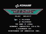 Gradius NES Title screen
