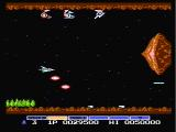 "Gradius NES The orange ""options"" provide more firepower"