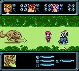 Star Ocean: Blue Sphere Game Boy Color Fighting with Mad Dog.