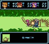 Star Ocean: Blue Sphere Game Boy Color Fighting with Something on The Ground.