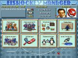 Eishockey Manager DOS Main play and management screen