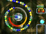 Ballistic PlayStation Stage mode, bomb power-up removes all balls of same color