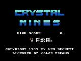 Crystal Mines NES Title screen