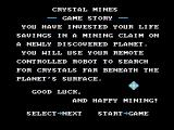 Crystal Mines NES The game story