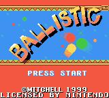 Ballistic Game Boy Color Title screen