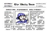 Paperboy NES The opening screen