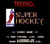 Tecmo Super Hockey Genesis Title screen