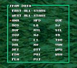 Tecmo Super Hockey Genesis All the teams featured in the game.