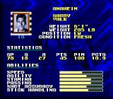 Tecmo Super Hockey Genesis Players abilities