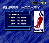 Tecmo Super Hockey Genesis Play the computer, another person, or have the computer take on itself.