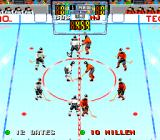 Tecmo Super Hockey Genesis The face-off