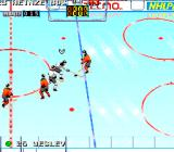 Tecmo Super Hockey Genesis Skating with the puck.