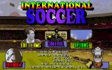 International Soccer DOS Title screen