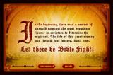 Bible Fight Browser Choose between Arcade or Tournament mode.