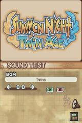 Summon Night: Twin Age Nintendo DS Sound test screen