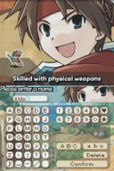 Summon Night: Twin Age Nintendo DS You can customize the character's name.