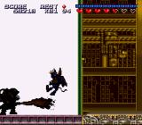 Sparkster SNES An enemy attacks with a flame thrower.