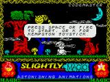 Slightly Magic ZX Spectrum This little animated sandbox serves as the title screen of the game.