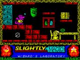 Slightly Magic ZX Spectrum Here we go - the starting area of the game.