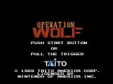 Operation Wolf NES Title screen