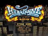 Hurricane Airfire Browser Title Screen and Main Menu.