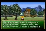Shining the Holy Ark SEGA Saturn Desire Village ~ In villages and towns you can buy goods and new equipment, relax in the inn or save your adventure. Desire Village is the only place that has a blacksmith's shop.