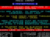 Magic Carpet ZX Spectrum Title screen