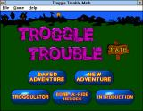 Troggle Trouble Math Windows 3.x Menu