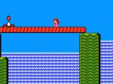 Super Mario Bros. 2 NES Crossing a waterfall