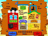 Fisher-Price Great Adventures: Wild Western Town Windows The overall map of the Wild Western Town, labeled with all the activities