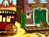 Fisher-Price Great Adventures: Wild Western Town Windows Exploring outside the bank
