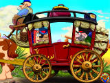 Fisher-Price Great Adventures: Wild Western Town Windows Exploring outside of the stagecoach