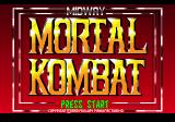 Mortal Kombat SEGA CD Title Screen
