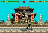 Mortal Kombat SEGA CD Sonya throws around Johnny Cage