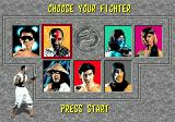 Mortal Kombat SEGA CD Character Selection