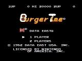 BurgerTime NES Title screen