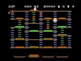 BurgerTime NES Gameplay on the first level