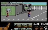 Shanghai Warriors Commodore 64 Using throwing knives