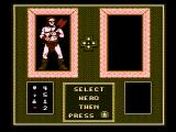 Gauntlet NES Select a character