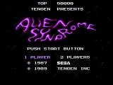 Alien Syndrome NES Title screen
