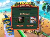 Elf Bowling: Hawaiian Vacation Windows Select your player and your ball design.