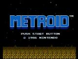 Metroid NES Title screen