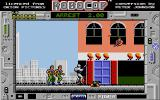 RoboCop Atari ST Shooting diagonally up at snipers in the windows