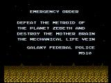 Metroid NES The opening story