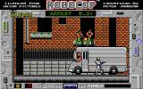 RoboCop Atari ST Level 2's boss fight, thugs atop a van