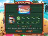 Elf Bowling: Hawaiian Vacation Windows In a single player game, select points to play to and mode of play.