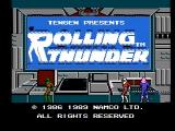 Rolling Thunder NES Title screen