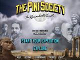The Pini Society: The Remarkable Truth Windows Main menu