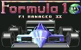 Formula 1 3D: F.1 Manager II Commodore 64 Title Screen
