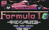 Formula 1 3D: F.1 Manager II Commodore 64 Main Menu